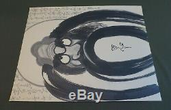 Very Fine Japanese Zen Sumi Ink Hand Painting Dalma Calligraphy Signed ChopStamp