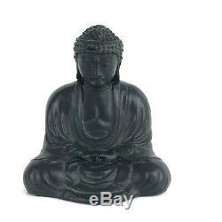 Vintage Fine Japanese Seated Meditating Altar Buddha Bronze Sculpture 3-1/4 U31