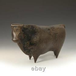 Vintage Japanese Cast Iron Sculpture Cow Decorative Fine Art Japan 20th C