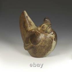 Vintage Japanese Cast Iron Sculpture Hen Decorative Fine Art Japan 20th C