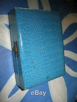 Vintage Japanese Fine 950 Sterling Silver Cigarette Case & Lighter 7 Lucky Gods