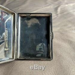 Vintage Japanese Fine 950 Sterling Silver Dragon Cigarette Case Engraved